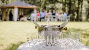 Champagne trouwerij Tjaarda Oranjewoud