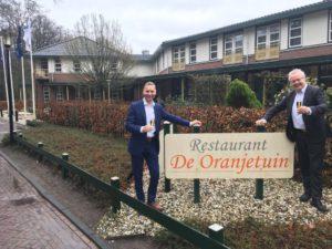 Tjitte de Wolff en Thom van der Heide Restaurant de Oranjetuin