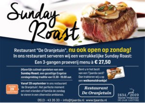 Sunday Roast restaurant 'de Oranjetuin'