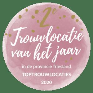 Trouwlocatie van het jaar Friesland button